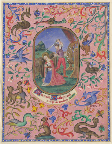 ILLUMINATED MANUSCRIPT A Manual of Prayers. Selected and Illuminated by Belinda de Trafford, 1865