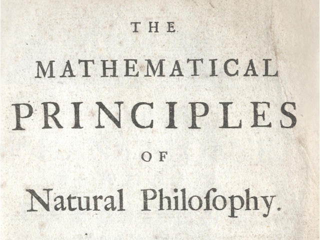 NEWTON (ISAAC) The Mathematical Principles of Natural Philosophy... Translated into English by Andrew Motte. To Which are Added, the Laws of the Moon's Motion, According to Gravity. By John Machin, 2 vol, Benjamin Motte, 1729