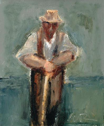 Will Roberts (British, 1910-2000) Farmer Pausing