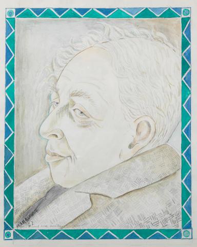 Maria Vorobieva (called Marevna) (Russian/French, 1892-1984) Portrait of Ilya Ehrenburg
