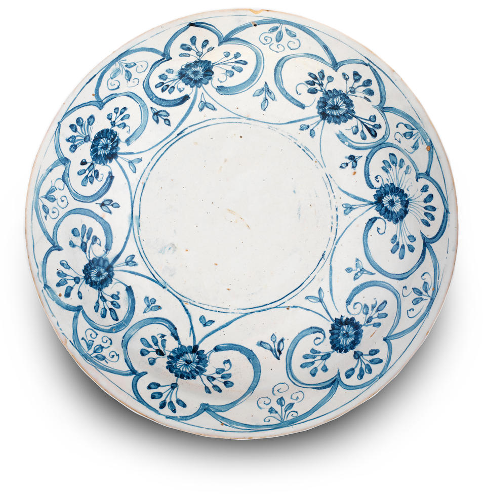 A Ligurian faience dish, probably Albisola or Savona, second half 17th century