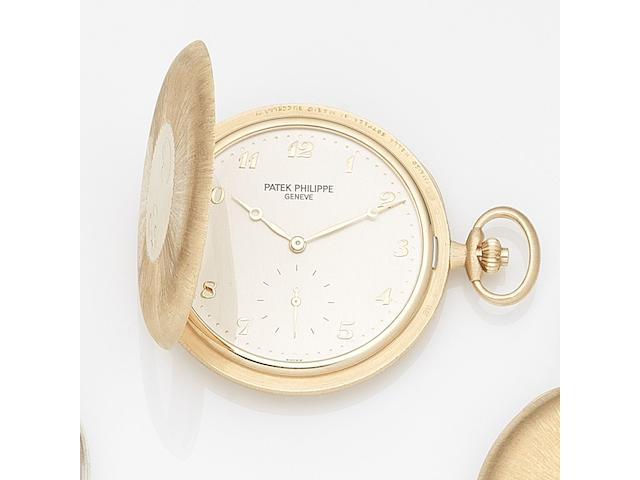 Patek Philippe. A fine 18K rose gold keyless wind open face pocket watch Ref:980R-001, Case No.4368051, Movement No.1940160, Sold 22nd June 2007