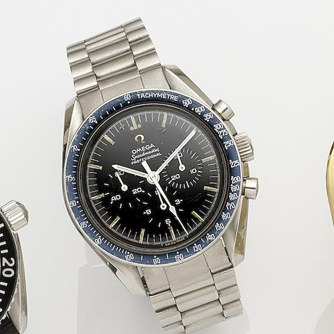 Omega. A stainless steel manual wind chronograph bracelet watch Speedmaster, Ref:S.105.012-64, Movement No.22083400, Circa 1965