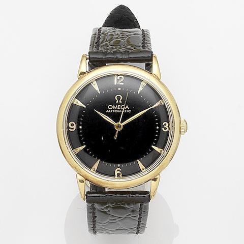 Omega. An 18K gold automatic wristwatch Case No.10539315, Movement No.12100152, Circa 1950