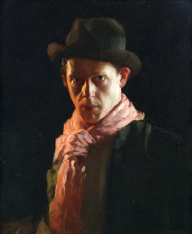 David Jagger R.O.I. (British, 1891-1958) The Conscientious Objector 55.2 x 46 cm. (21 3/4 x 18 in.) (Painted in 1917)