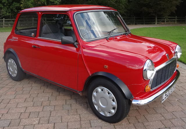 1993 Rover Mini Sprite Saloon  Chassis no. SAXXNYADBBD077494 Engine no. 12A2BG03279146