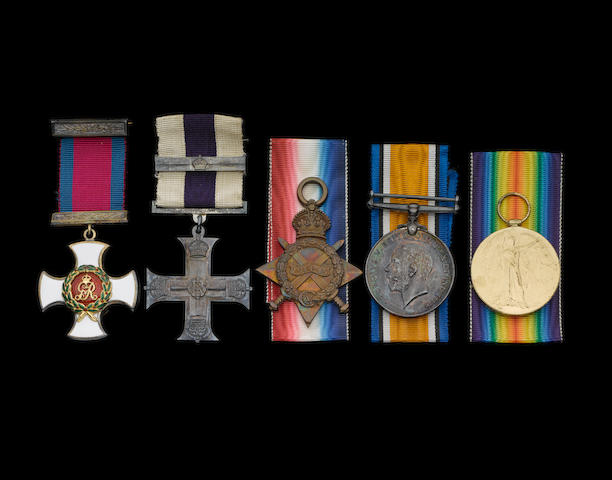 A Great War D.S.O., M.C. and bar group of five to Major H.R.Macintyre, Royal Army Medical Corps,