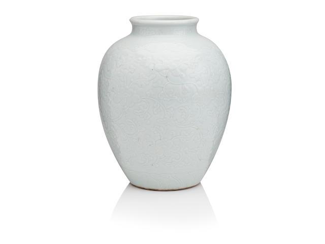 A large pale blue vase 18th century