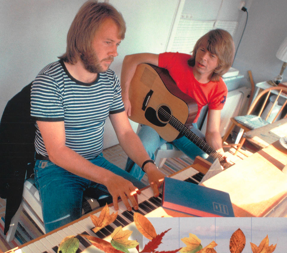 "ABBA: a Lindner upright piano used extensively by Benny Andersson and Björn Ulvaeus to compose many of ABBA's major hits between 1972-1979, including Fernando, Mamma Mia and Dancing Queen, during the groups sessions in the ""ABBA Writing Cottage"", late 1960s,"