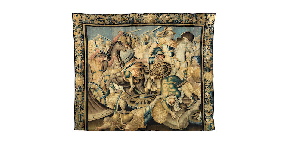 A French 18th century Aubusson Historical tapestry