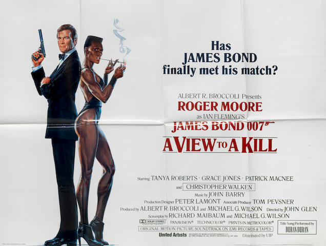 James Bond: a collection of eight posters, Eon/United Artists, 1974-1985,