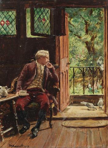 Frank Moss Bennett (British, 1874-1952) Visitors at the door