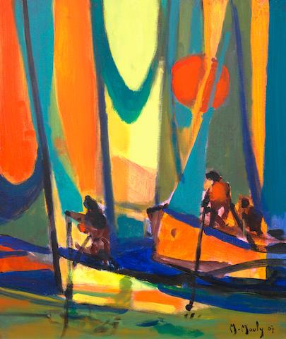 Marcel Mouly (1918-2008) Pécheurs a La Fouère au soleil (Painted in 2007)