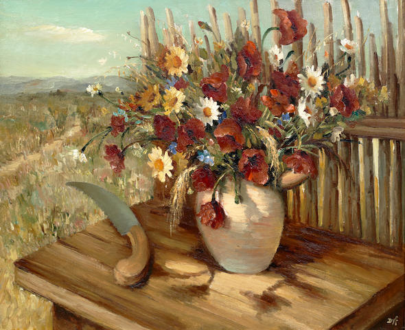 Marcel Dyf (French, 1899-1985) Fleurs des champs, Provence (Painted in 1935)