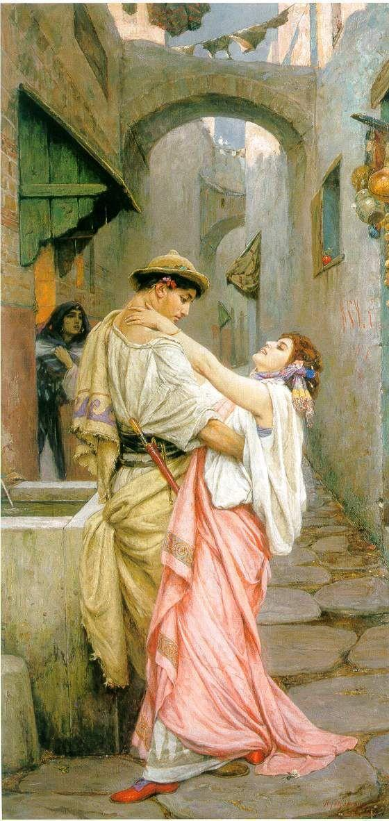 Pavel Aleksandrovich Svedomsky (russian, 1848-1904) 'A kiss'