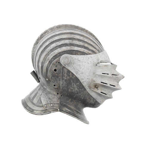 A German Close-Helmet Of 'Maximilian' Type For The Field