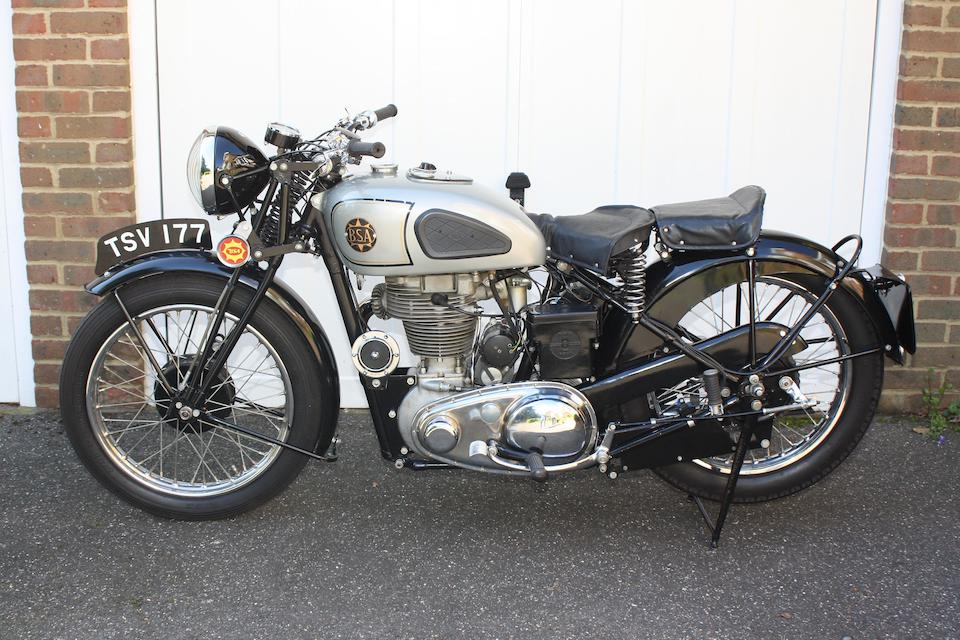 c.1939 BSA 500cc M20/M24 Gold Star Frame no. KM24 198 (see text) Engine no. KM24 198