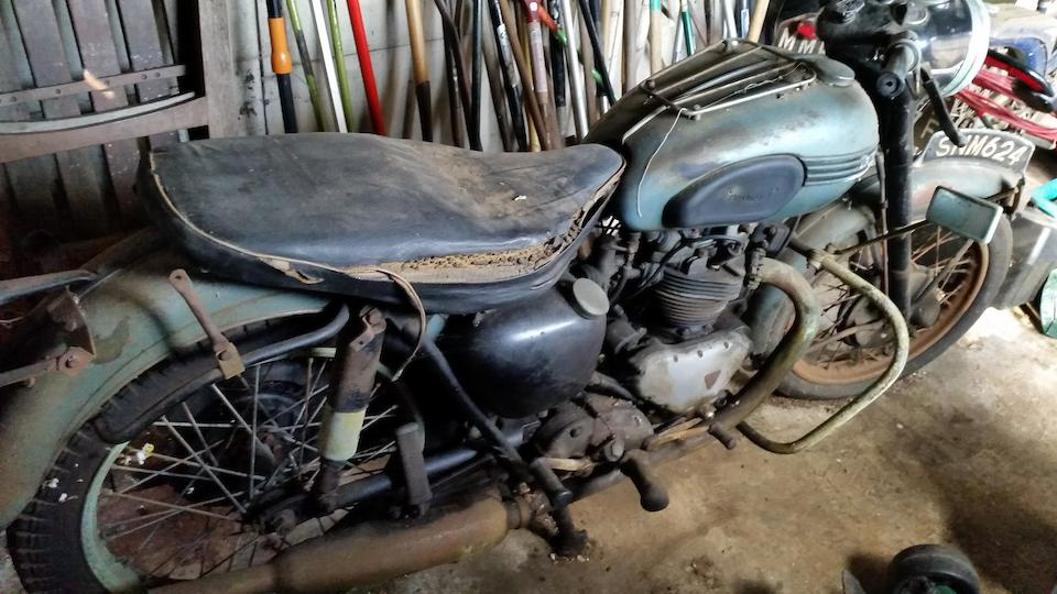 Property of a deceased's estate; one owner from new,1957 Triumph 649cc Tiger 110 Project Frame no. 0150 Engine no. T110 0150