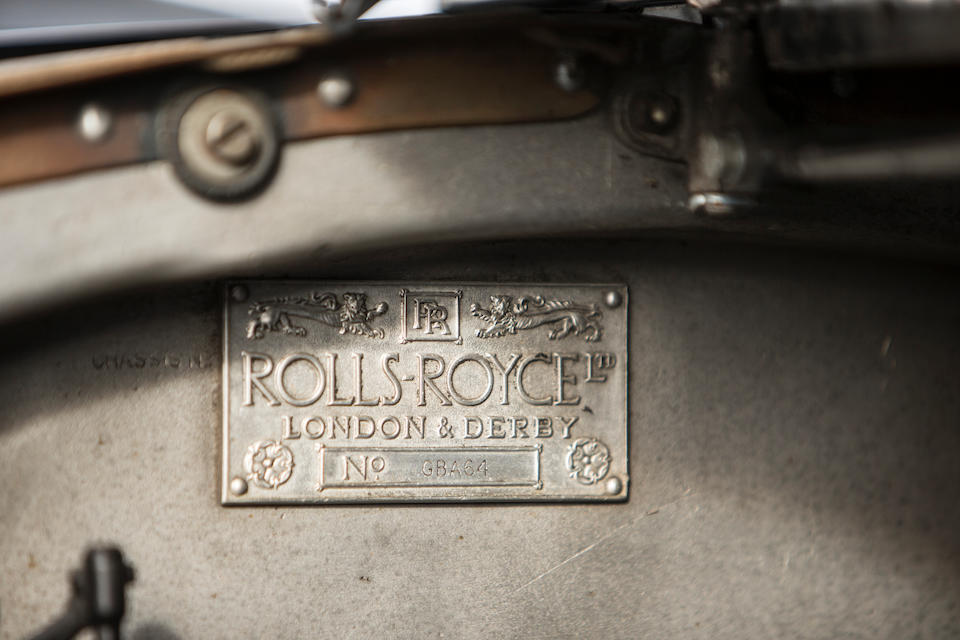 1933 Rolls-Royce 20/25hp Sedanca Coupé  Chassis no. GBA64 Engine no. P7A