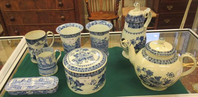 A group of English blue and white printed earthenware, circa 1815-40