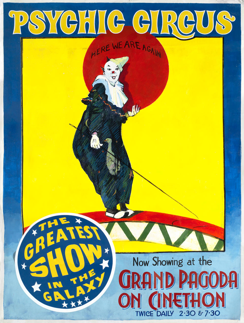 Doctor Who - The Greatest Show in the Galaxy: two screen used prop circus posters, BBC, 1988,