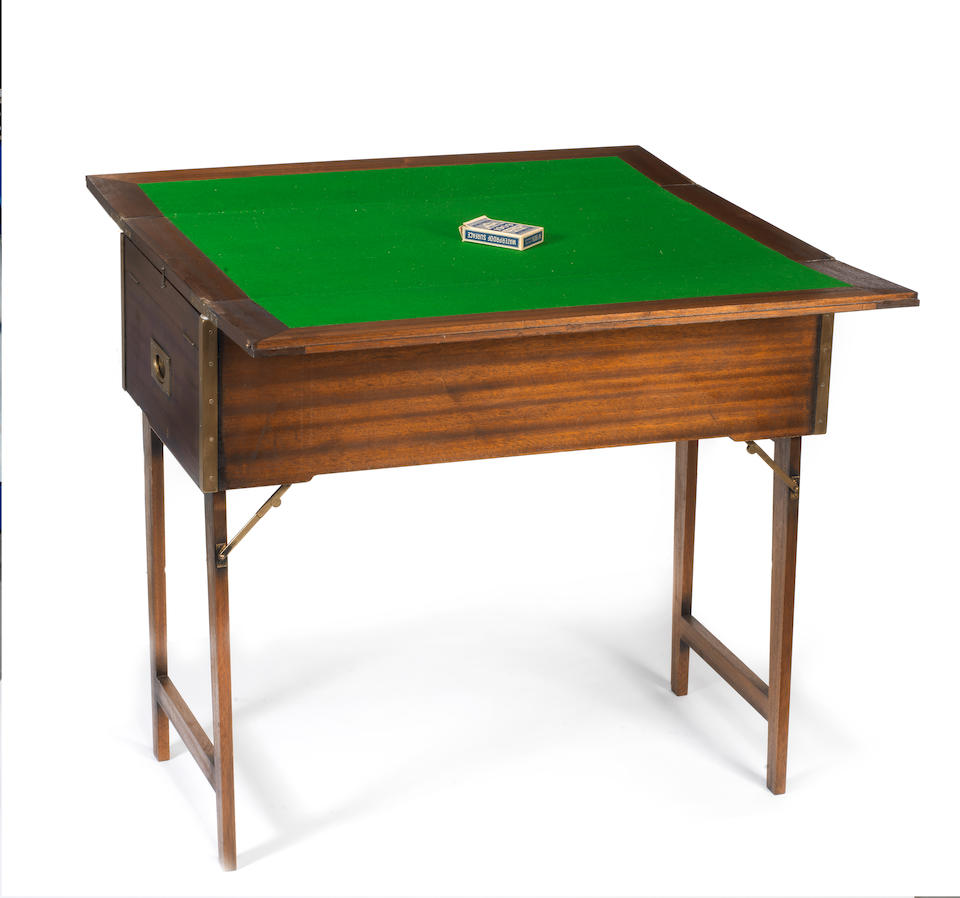 A fine and impressive wooden cased six-person picnic set and games table combination, by Barrett & Sons, pre-War,