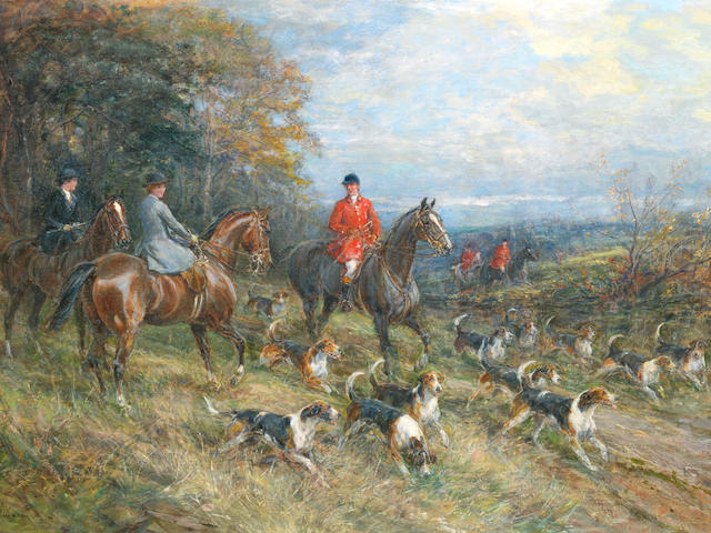Heywood Hardy (British, 1842-1933) On the hunt