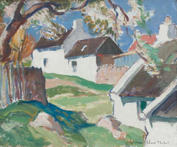 John Maclauchlan Milne RSA (British, 1886-1957) High Corrie, Arran 38 x 45 cm. (15 x 17.75 in.)