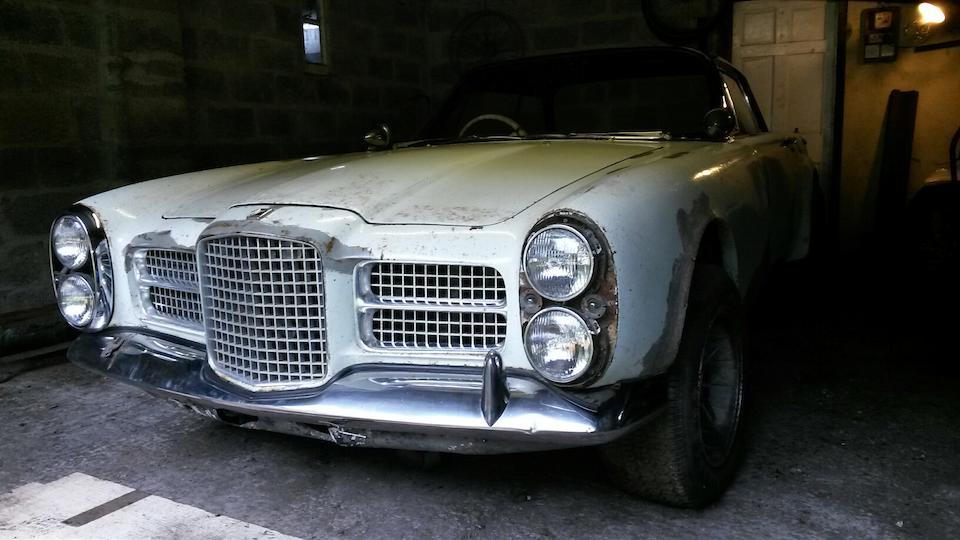 1962 Facel Vega Facel II Coupé Project  Chassis no. HK2 A114 Engine no. 212132