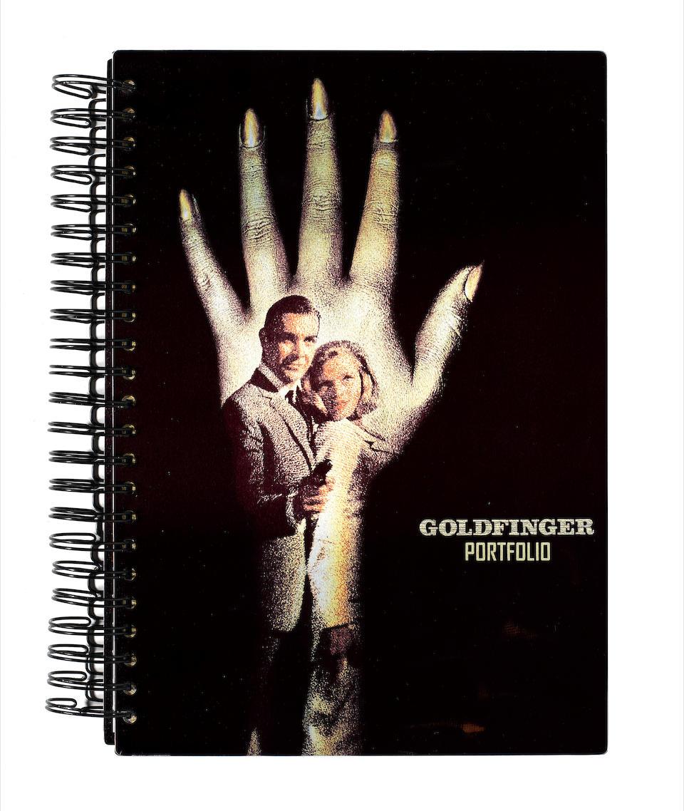 James Bond: a signed copy of the Goldfinger Portfolio by Graham Rye,