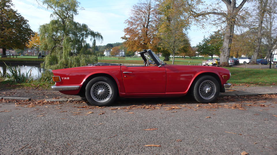 1972 Triumph TR6 Roadster  Chassis no. CP75751O Engine no. CP075701HE