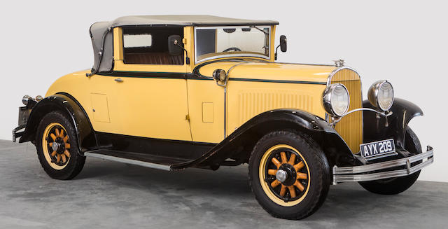 Property of a deceased's estate,1929 Chrysler 75 Roadster  Chassis no. R291011
