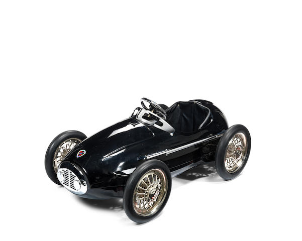 A 'Black Racer' pedal car by American Retro,
