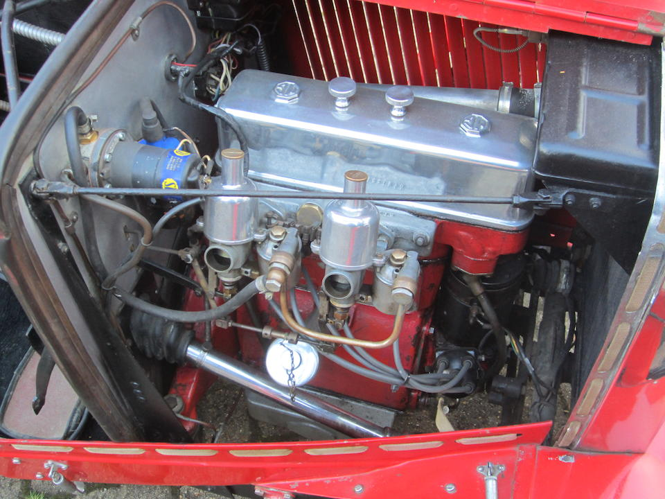 1933 MG Midget J2 Roadster  Chassis no. 2532 Engine no. 29165A