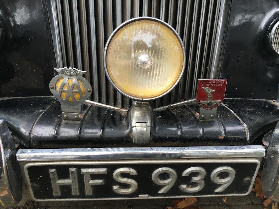 1949 Bentley Mark VI Sports Saloon Project  Chassis no. B-3-EW Engine no. B252E