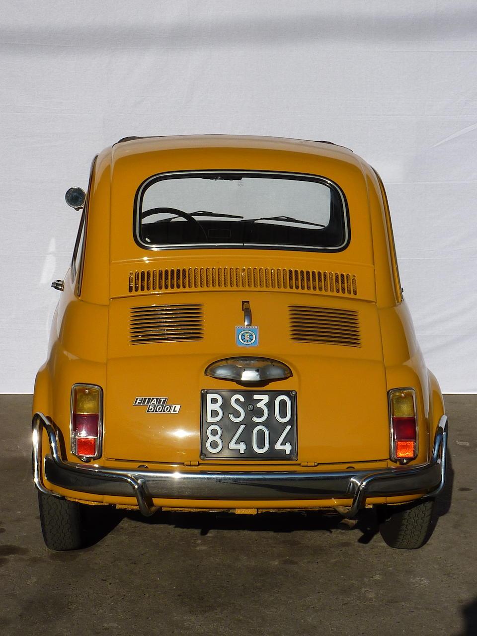 1970 Fiat 500L Saloon  Chassis no. 110 F 2615911 Engine no. 110 F 2752067