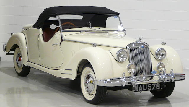 From the Arthur Carter Collection,1949 Riley RMC 2½-Litre Roadster  Chassis no. 59SS-5380 Engine no. 5380