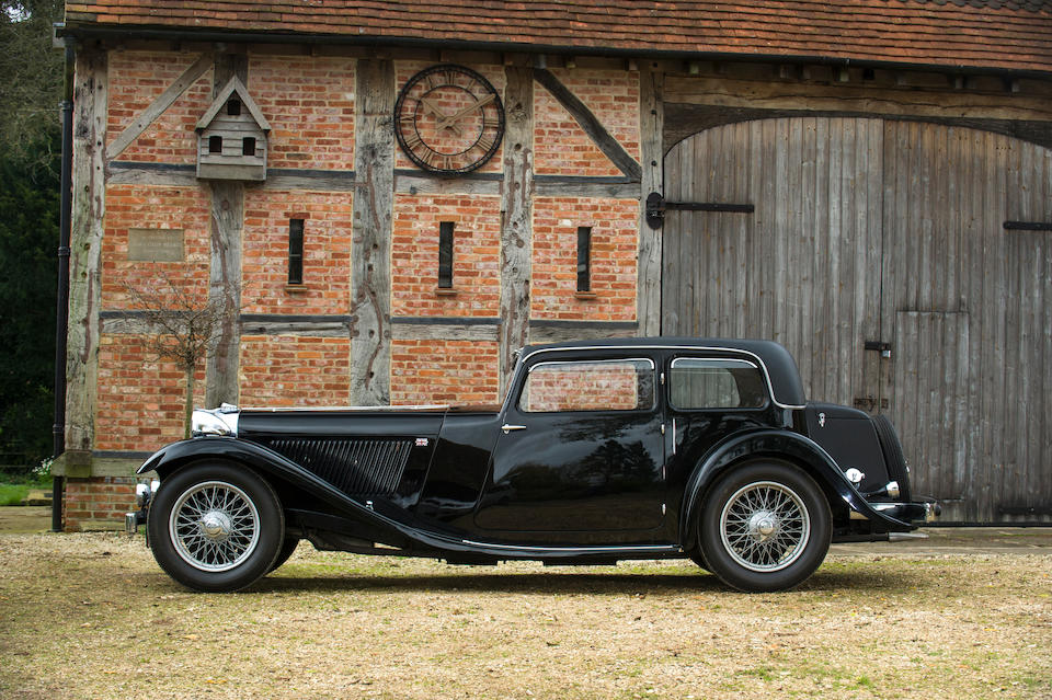 1934 SS1 2½-Litre Sports Saloon  Chassis no. 248788