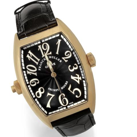 Franck Muller. A large 18k rose gold automatic wristwatch with unusual time display Secret Hours, Ref:8880 SE H I, No.22, Circa 2005