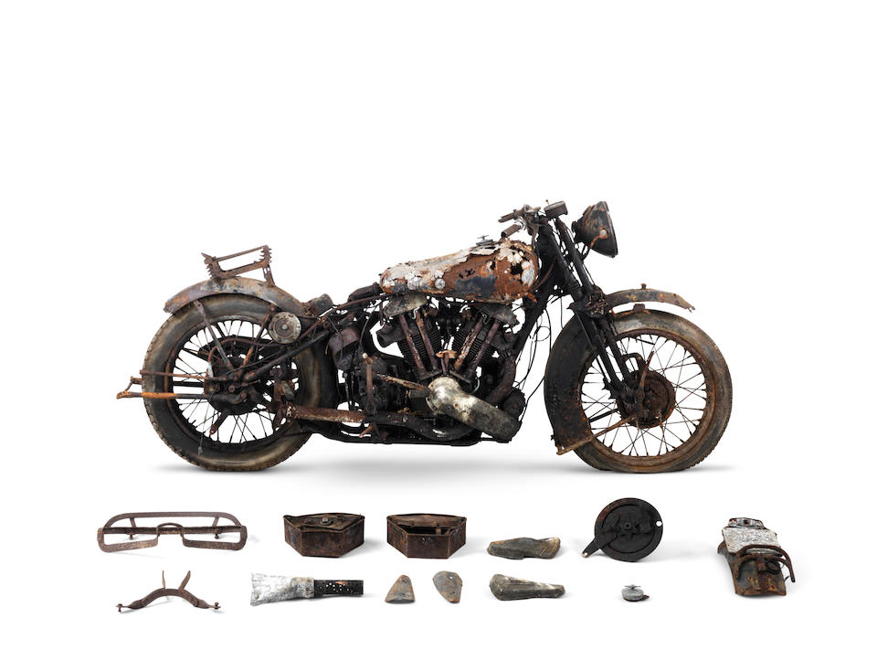 From the estate of the late Frank Vague,1938 Brough Superior 982cc SS100 Project Frame no. M1/1687 Engine no. BS/X2 1038