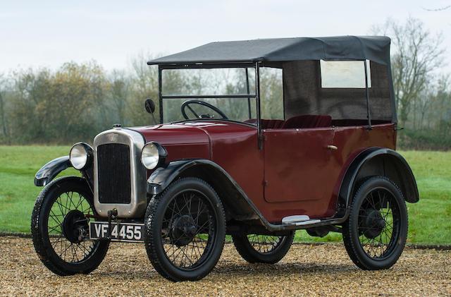 1928 Austin Seven 'Chummy' Tourer  Chassis no. 69290 Engine no. 69529