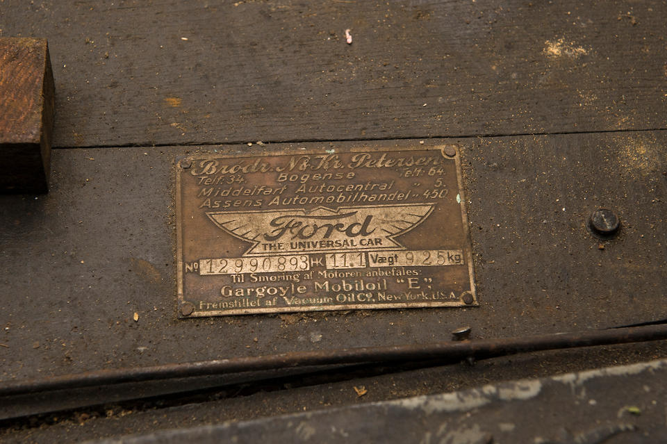 1926 Ford Model T Tudor Saloon  Chassis no. 12990893