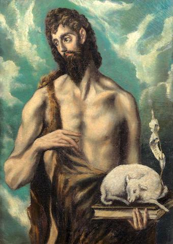 After Domenikos Theotokopoulos, called El Greco, 20th century Saint John the Baptist