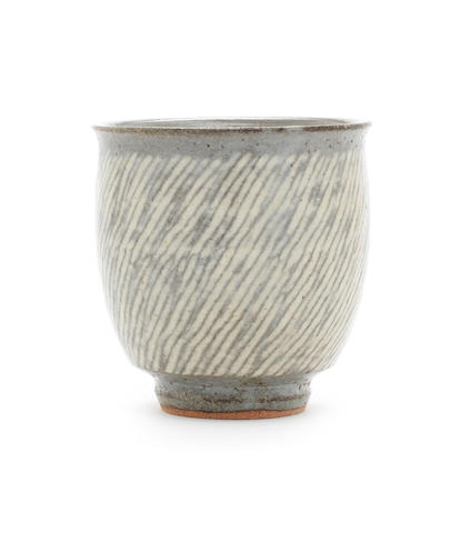 A Stoneware Tea Bowl by Tatsuzo Shimaoka SECOND HALF 20TH CENTURY