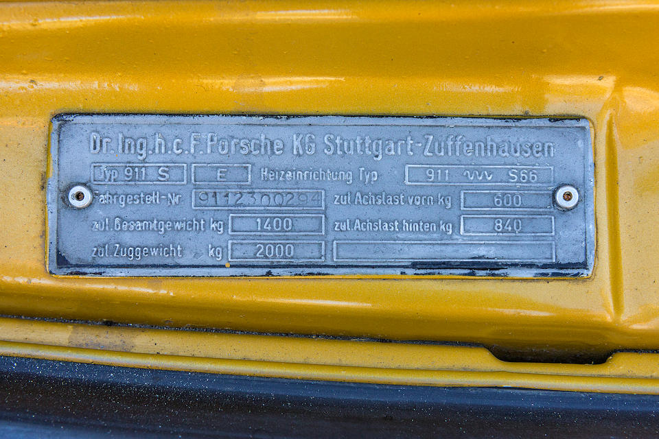 Porsche 911 S 2.4 litres Coupé 1971