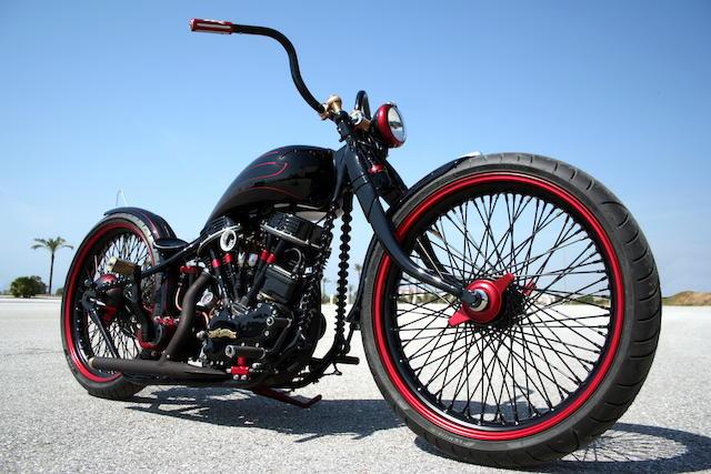 Harley-Davidson 1 200 cm3 « Panafina » Custom 1956  Engine no. 56FL4787