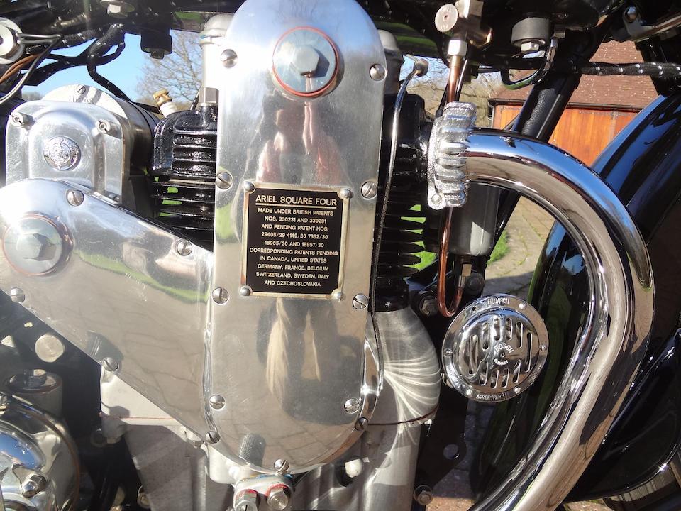 Ariel « Square Four » 601 cm3 1934  Frame no. 4817 Engine no. 285