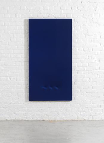 Turi Simeti (Italian, born 1929) Tre ovali blu 1980