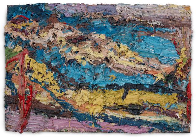 Frank Auerbach (British, born 1931) E.O.W. on her Blue Eiderdown V 1963