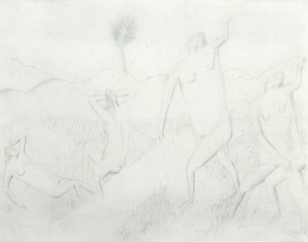 Andre Derain (French, 1880-1954) Quatre femmes nues dans un paysage (Executed circa 1906 - 1907)